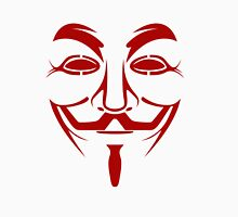 Red Guy Fawkes Mask Unisex T-Shirt