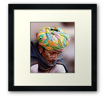 Multi Colored Turban Framed Print