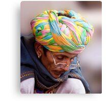 Multi Colored Turban Metal Print