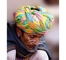 Multi Colored Turban Photographic Print