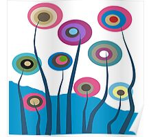 Whimsical Trees Poster