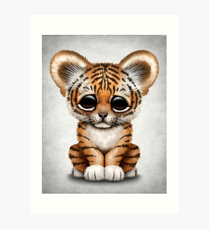 Cute Baby Tiger Cub  Art Print
