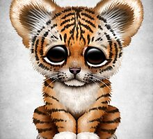 Cute Baby Tiger Cub  by Jeff Bartels