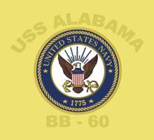 USS Alabama (BB-60) for Dark Backgrounds One Piece - Short Sleeve