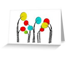 Whimsical Trees Greeting Card