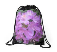 Purple Rhododendron Drawstring Bag