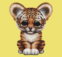Cute Baby Tiger Cub on Brown Baby Tee