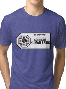 Dharma Initiative standard issued human being Tri-blend T-Shirt