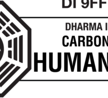 Dharma Initiative standard issued human being Sticker