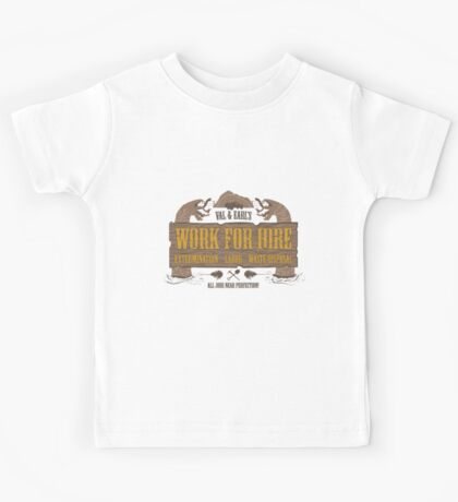 Val & Earl's Work for Hire Kids Tee