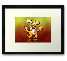 Easter Bunny Painting an Egg Framed Print