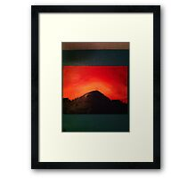 The Crucifiction (Blood Red Sunset) Framed Print