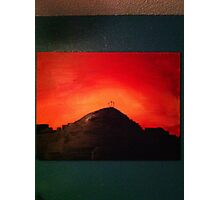 The Crucifiction (Blood Red Sunset) Photographic Print