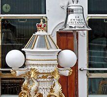 HMY Britannia binnacle and ship's bell by Woodie