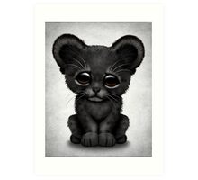 Cute Baby Black Panther Cub  Art Print