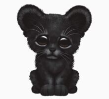 Cute Baby Black Panther Cub  One Piece - Short Sleeve