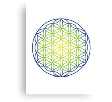 Flower of Life, Earth and Sky Canvas Print