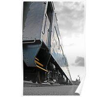 Sunset Train - Lake Placid New York Poster