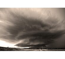 The O'dell Supercell- Black and White Photographic Print
