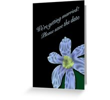 Save The Date Card - Blue Eyed Grass Greeting Card