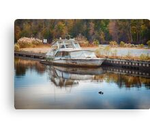 Old Sinking Boat Canvas Print