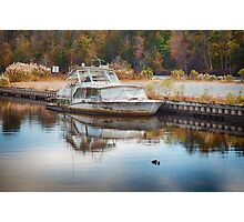 Old Sinking Boat Photographic Print