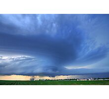 Aurora, Nebraska Twilight Tornado Photographic Print