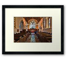 St Mary The Virgin, Thurnham - interior Framed Print