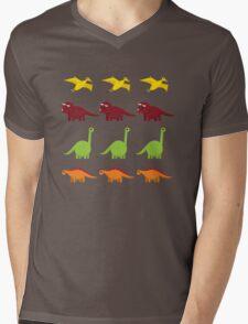 Cute Dinosaurs Mens V-Neck T-Shirt