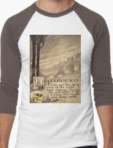 Flying Witch (Vintage Halloween Card)  Men's Baseball ¾ T-Shirt