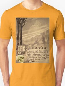Flying Witch (Vintage Halloween Card)  Unisex T-Shirt