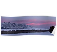Grand Teton Winter Morning Poster