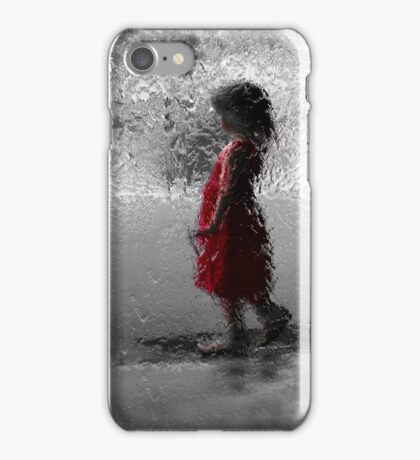 Contemplating red iPhone Case/Skin