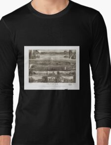 Panoramic Maps Olympia the capital on Puget Sound Washington Long Sleeve T-Shirt