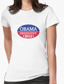 Obama President 2012 Womens Fitted T-Shirt
