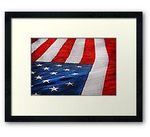 Americana - Flag - Stars and Stripes  Framed Print