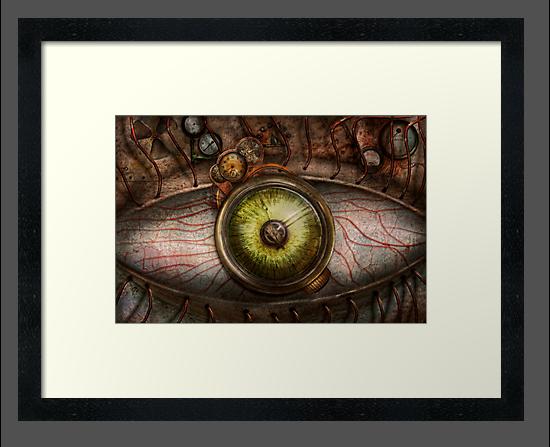 Steampunk - Creepy - Eye on technology  by Mike  Savad