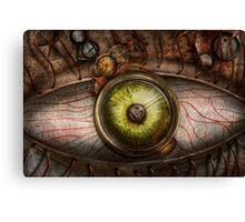 Steampunk - Creepy - Eye on technology  Canvas Print