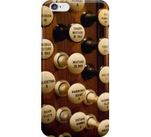 Pipe organ stops iPhone Case/Skin