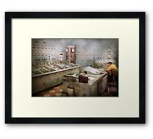 Steampunk - Retro - The power station Framed Print