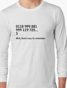 IT Crowd - emergency services Long Sleeve T-Shirt