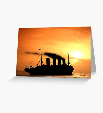 The Voyage of RMSTitanic into History Greeting Card