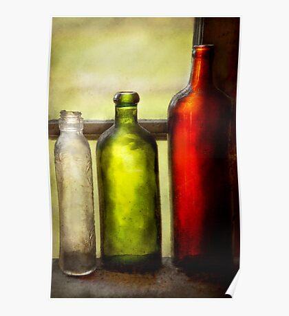 Collector - Bottles - Still life of three bottles  Poster