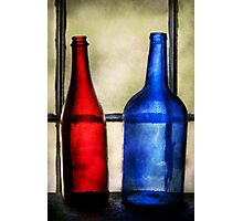 Collector - Bottles - Two empty wine bottles  Photographic Print