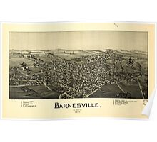 Panoramic Maps Barnesville Ohio 1899 Poster