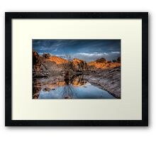 Roughly Peaceful Framed Print