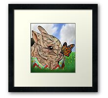 Bunny and Butterfly Framed Print