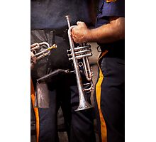 Music - Trumpet - Police marching band  Photographic Print