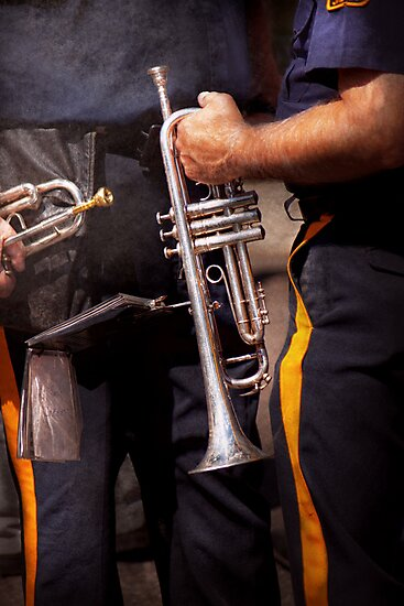 Music - Trumpet - Police marching band  by Mike  Savad
