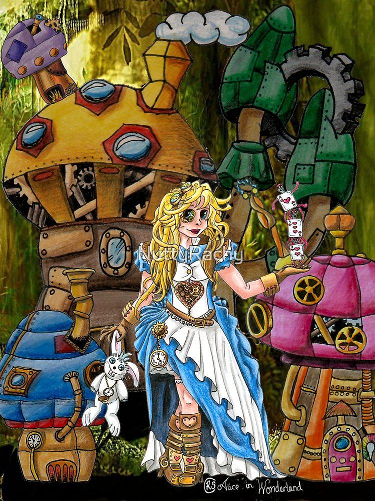Alice in Wonderland - Steampunk style by NuttyRachy